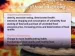 side effect of food advertising