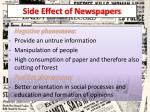 side effect of newspapers