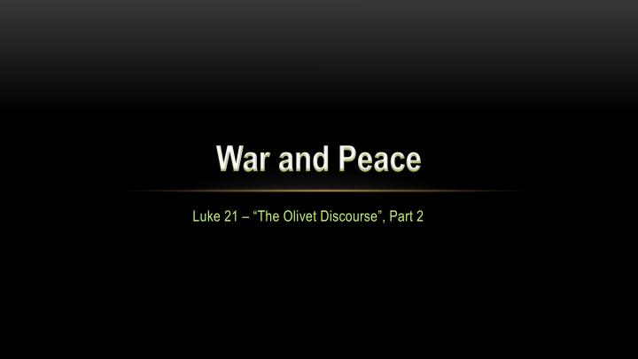 war and peace n.