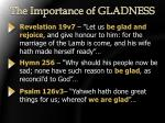 the importance of gladness