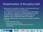 dissemination of the policy brief