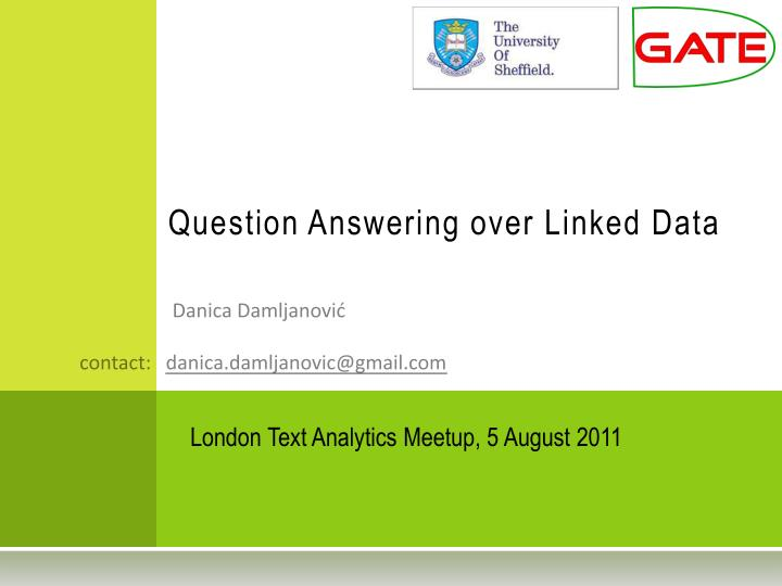 question answering over linked data n.