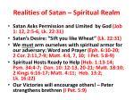realities of satan spiritual realm