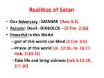realities of satan