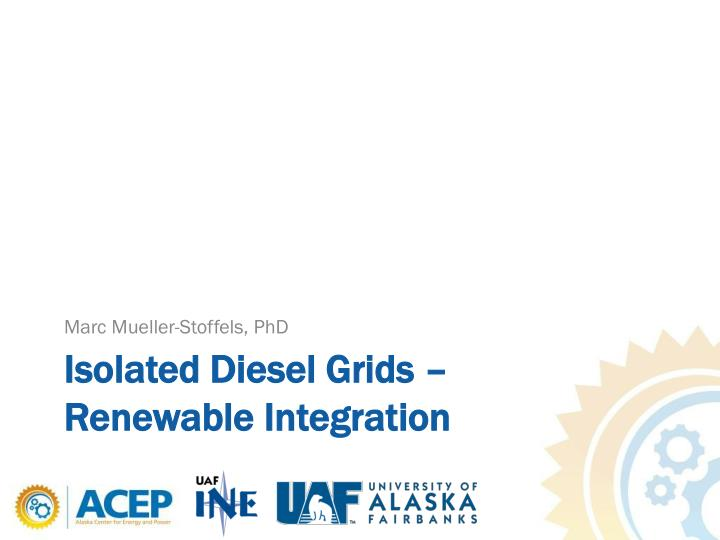 isolated diesel grids renewable integration n.