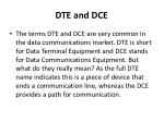 dte and dce