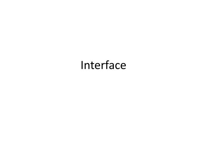 interface n.