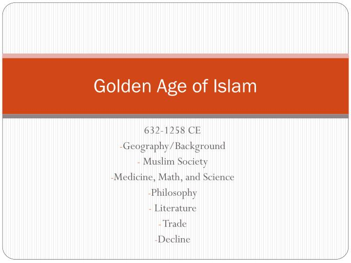 golden age of islam n.