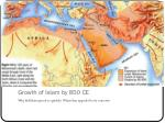 growth of islam by 850 ce