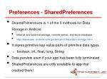 preferences sharedpreferences