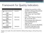 framework for quality indicators1
