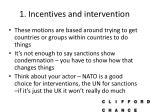 1 incentives and intervention