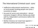the international criminal court cons