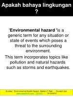 apakah bahaya lingkungan