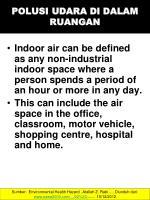 polusi udara di dalam ruangan
