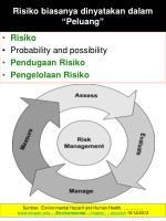 risiko biasanya dinyatakan dalam peluang