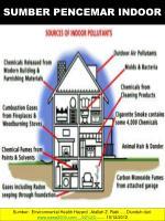 sumber pencemar indoor