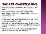 simple vs complete 3 mins