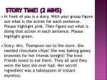story time 2 mins