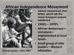 african independence movement