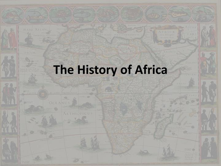 the history of africa n.
