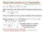 brack hole solution in 3 1 braneworld