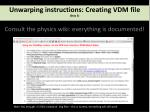 unwarping instructions creating vdm file step 3