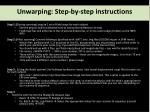 unwarping step by step instructions