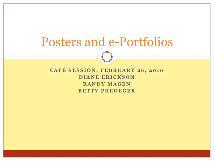 posters and e portfolios n.