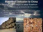 buddhism diffusion to china