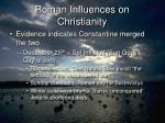roman influences on christianity