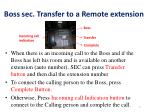 boss sec transfer to a remote extension
