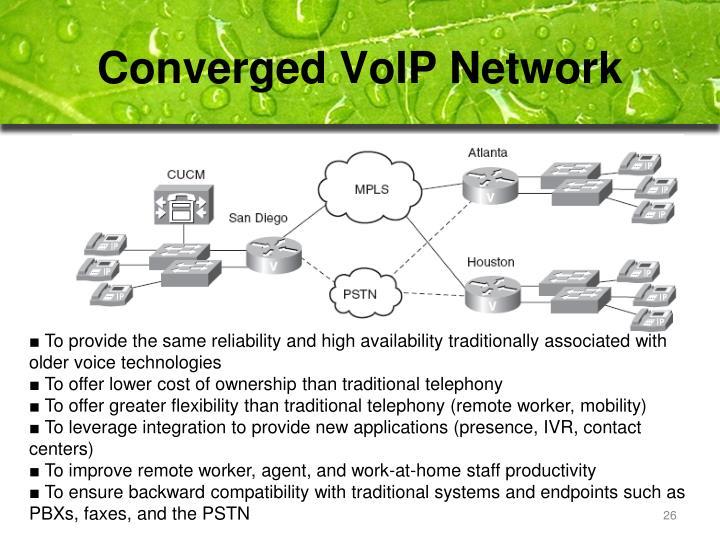 Converged VoIP Network