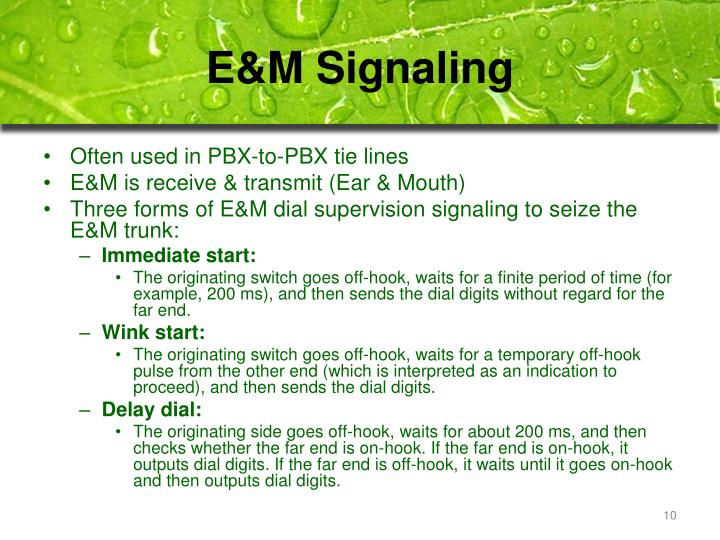 E&M Signaling