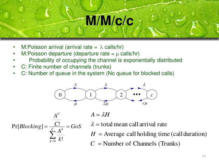 M/M/c/c