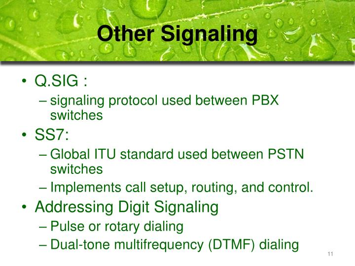 Other Signaling