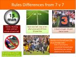 rules differences from 7 v 7