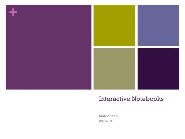 interactive notebooks n.
