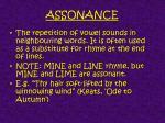 assonance