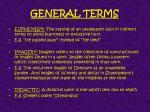 general terms