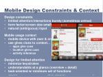 mobile design constraints context2