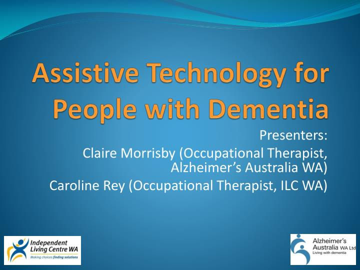 assistive technology for people with dementia n.