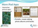 more ipad apps