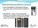 telecommunciations cont