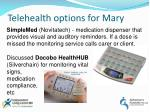 telehealth options for mary