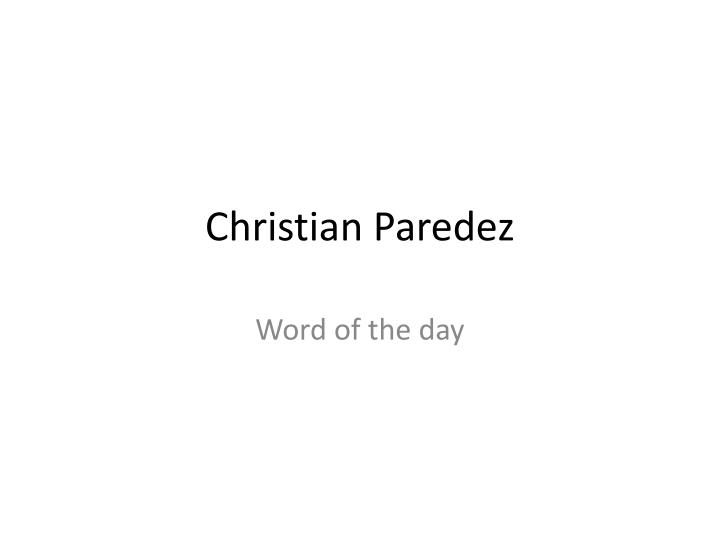 christian p aredez n.