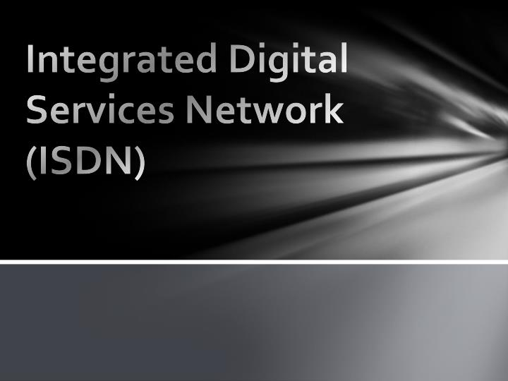 integrated digital services network isdn n.