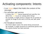 activating components intents1