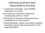 collecting qualitative data nonprobability sampling