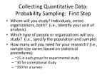 collecting quantitative data probability sampling first step